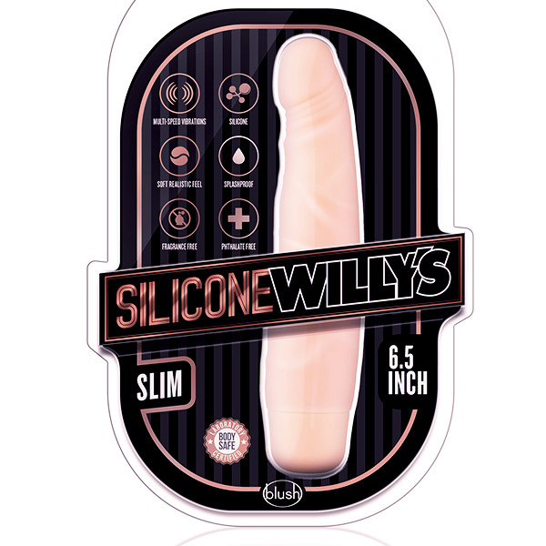 SILICONE WILLYS SLIM VIBRATOR