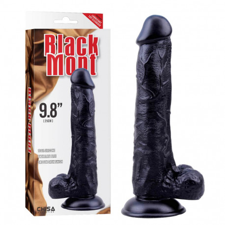 Silicone Black Veined Dong