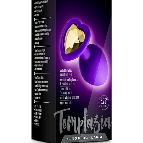 TEMPTASIA BLING PLUG LARGE PURPLE